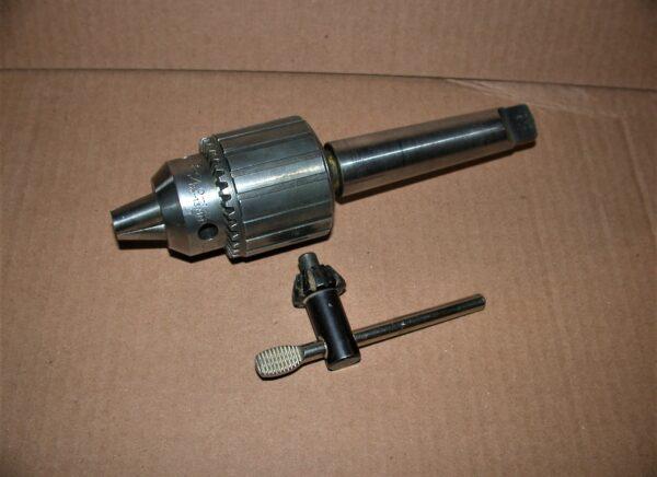 """3 Morse Taper Shank Jacobs No 34 Drill Chuck, 0 - 1/2"""" Cap. 80212636"""