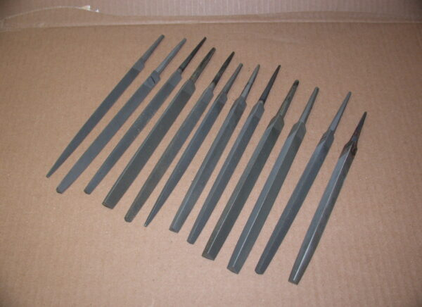 "12 Assorted Make & Cut 6"" Triangular Files, 80212655"