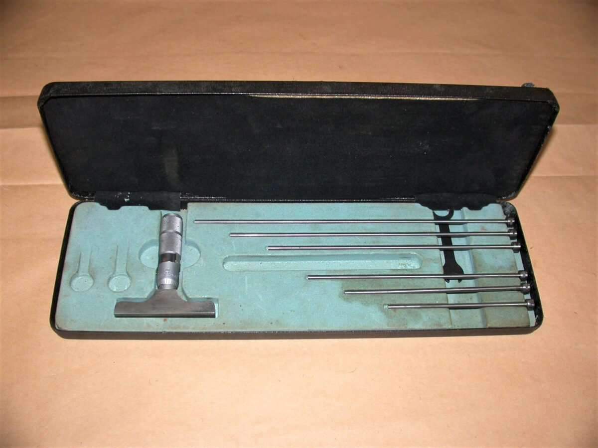 """Moore & Wright 0 - 6"""" Depth Micrometer with Case, 80212733"""