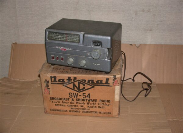 National Model SW-54 Shortwave Radio with Original Box & Invoice,