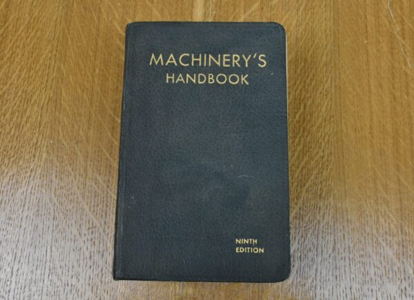 Machinery's Handbook, 9th Edition, 1937. 80212771